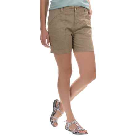White Sierra Canyon Shorts (For Women) in Taupe - Closeouts