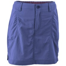 White Sierra Canyon Skort - UPF 30, Built-in Shorts (For Little and Big Girls) in Deep Periwinkle - Closeouts