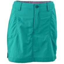 White Sierra Canyon Skort - UPF 30, Built-in Shorts (For Little and Big Girls) in Vivid Green - Closeouts