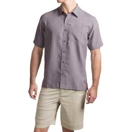 White Sierra Caracas Shirt - Short Sleeve (For Men) in Dark Grape - Closeouts
