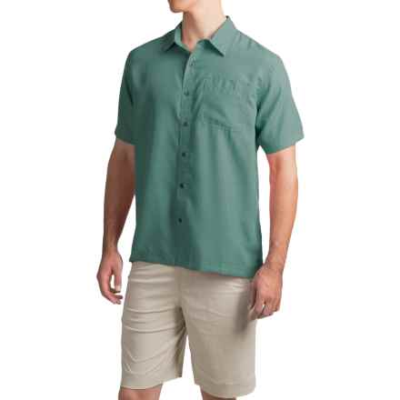 White Sierra Caracas Shirt - Short Sleeve (For Men) in Fir - Closeouts