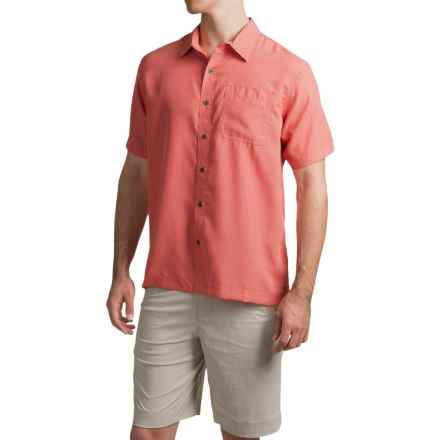 White Sierra Caracas Shirt - Short Sleeve (For Men) in Watermelon - Closeouts