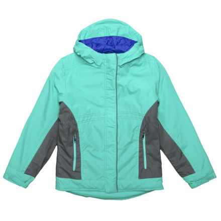 White Sierra Casper Jacket - Insulated (For Girls) in Blue Radiance - Closeouts