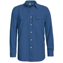 White Sierra Catamaran Roll Up Shirt - UPF 30, Long Sleeve (For Men) in Blue Steel - Closeouts