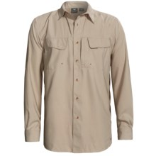 White Sierra Catamaran Roll Up Shirt - UPF 30, Long Sleeve (For Men) in Stone - Closeouts