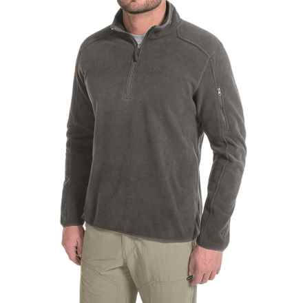 White Sierra Cloud Rest II Fleece Sweatshirt - Zip Neck (For Men) in Asphalt - Closeouts