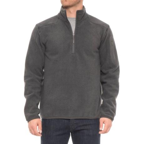 White Sierra Cloud Rest II Fleece Sweatshirt - Zip Neck (For Men) in Caviar