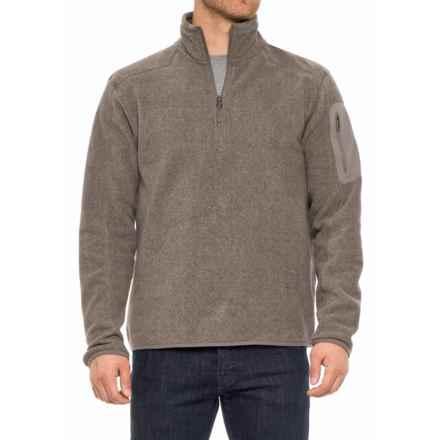 White Sierra Cloud Rest II Fleece Sweatshirt - Zip Neck (For Men) in Humus - Closeouts
