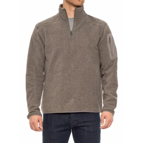 White Sierra Cloud Rest II Fleece Sweatshirt - Zip Neck (For Men) in Humus