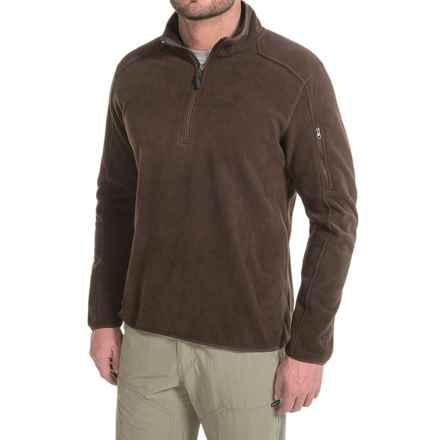 White Sierra Cloud Rest II Fleece Sweatshirt - Zip Neck (For Men) in Mole - Closeouts