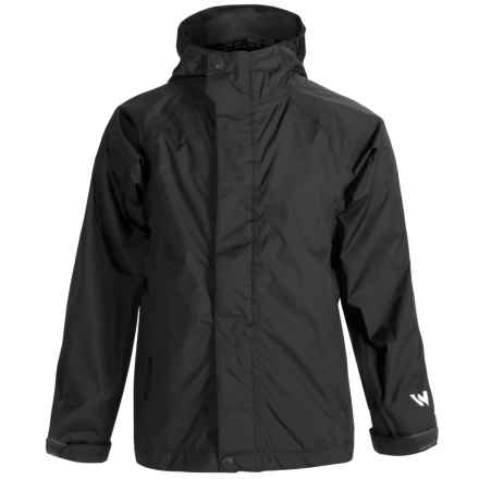 White Sierra Cloudburst T Rain Jacket CLOUDBURST WATERPROOF BREATHABLE RAIN GEAR JACKET (FOR YOUTH) in Black - Closeouts