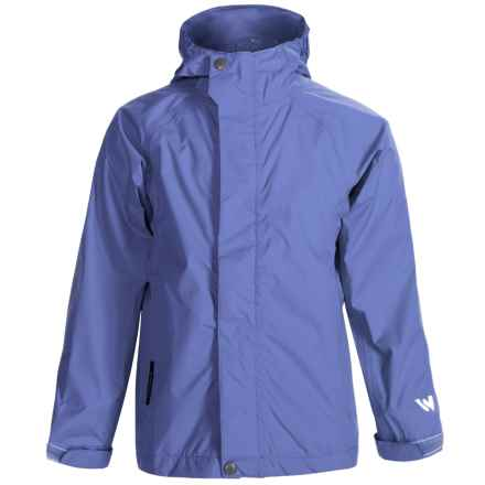 White Sierra Cloudburst T Rain Jacket CLOUDBURST WATERPROOF BREATHABLE RAIN GEAR JACKET (FOR YOUTH) in Purple Rain - Closeouts