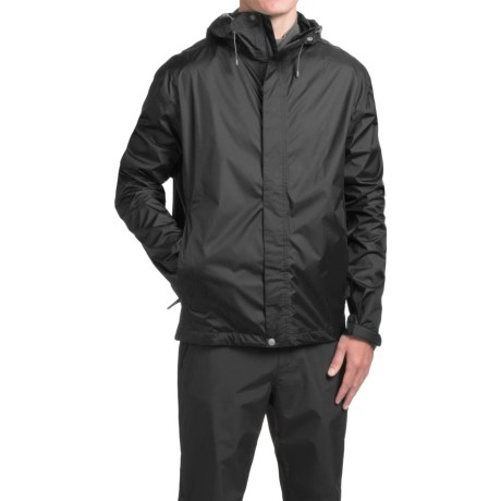 White Sierra Cloudburst Trabagon Rain Jacket - Waterproof  (For Men) in Black