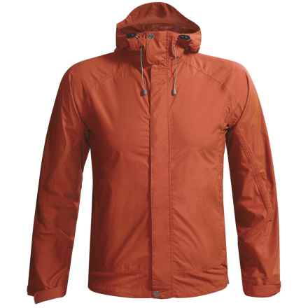 White Sierra Cloudburst Trabagon Rain Jacket - Waterproof  (For Men) in Burnt Orange - Closeouts