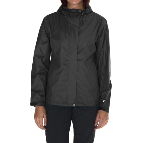 White Sierra Cloudburst Trabagon Rain Jacket - Waterproof (For Women) in Black