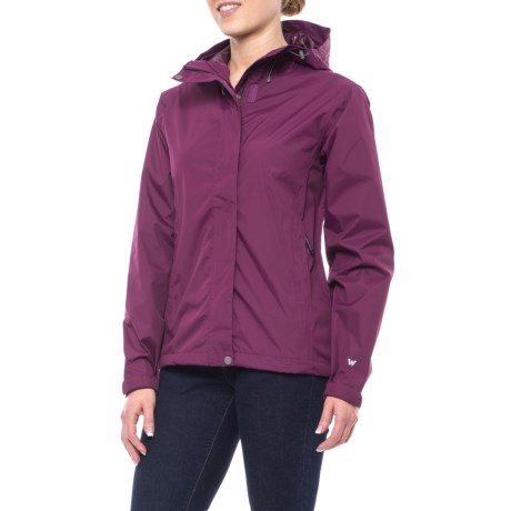 White Sierra Cloudburst Trabagon Rain Jacket - Waterproof (For Women) in Dark Purple