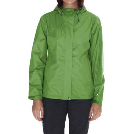 White Sierra Cloudburst Trabagon Rain Jacket - Waterproof (For Women) in Fluorite Green