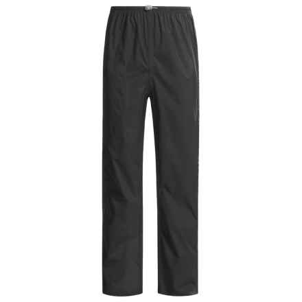 White Sierra Cloudburst Trabagon Rain Pants - Waterproof (For Men) in Black - Closeouts