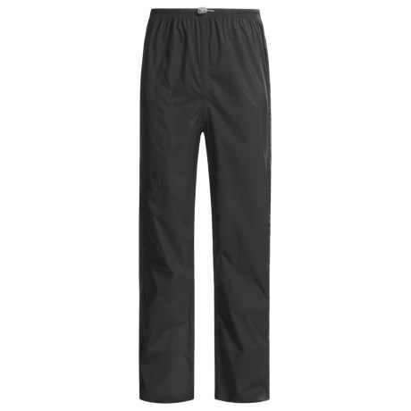 White Sierra Cloudburst Trabagon Rain Pants - Waterproof (For Men) in Black