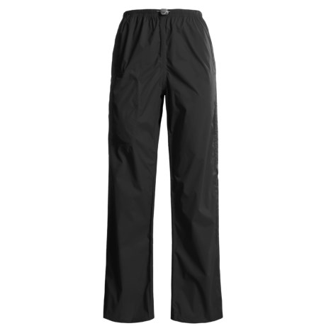 White Sierra Cloudburst Trabagon Rain Pants - Waterproof (For Women) in Black