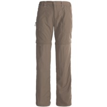 White Sierra Convertible Sierra Point Pants - UPF 30 (For Plus Size Women) in Bark - Closeouts