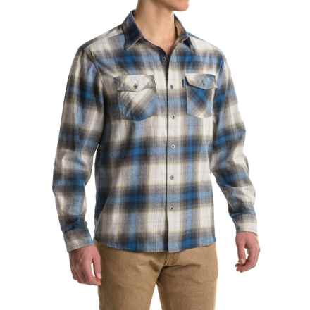 White Sierra Coyote Creek Plaid Shirt - Cotton Blend, Long Sleeve (For Men) in Shield Blue - Closeouts