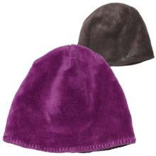 White Sierra Cozy Beanie Hat - Reversible Fleece (For Women) in Purple Wine - Closeouts