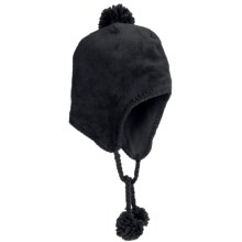 White Sierra Cozy Flap Beanie Hat - Fleece (For Women) in Black - Closeouts