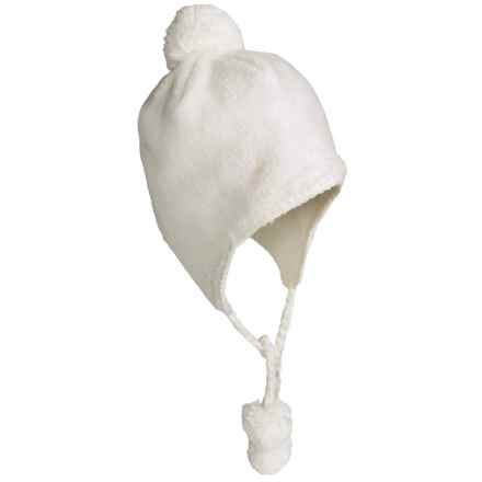White Sierra Cozy Flap Beanie Hat - Fleece (For Women) in Cloud - Closeouts