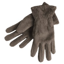 White Sierra Cozy Fleece Gloves (For Women) in Cigar - Closeouts