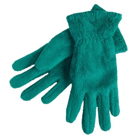 White Sierra Cozy Fleece Gloves (For Women) in Night Teal