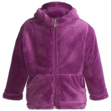 White Sierra Cozy Fleece Hoodie Sweatshirt (For Toddlers) in Purple Wine - Closeouts