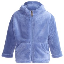 White Sierra Cozy Fleece Hoodie Sweatshirt (For Toddlers) in Sky - Closeouts