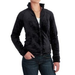 White Sierra Cozy Fleece Jacket - 200 wt. (For Women) in Sleet Grey