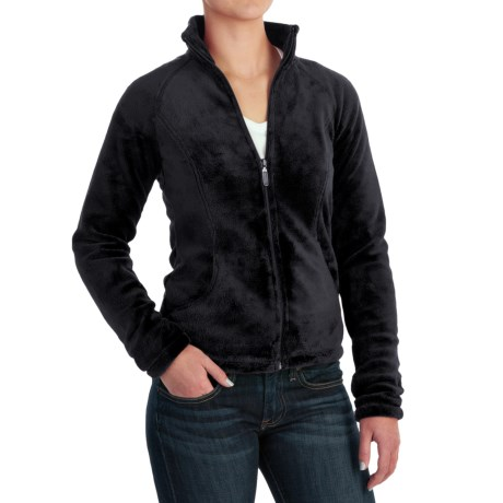 White Sierra Cozy Fleece Jacket - 200 wt. (For Women) in Black