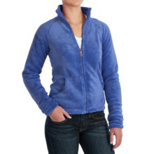 White Sierra Cozy Fleece Jacket - 200 wt. (For Women) in Blues - Closeouts