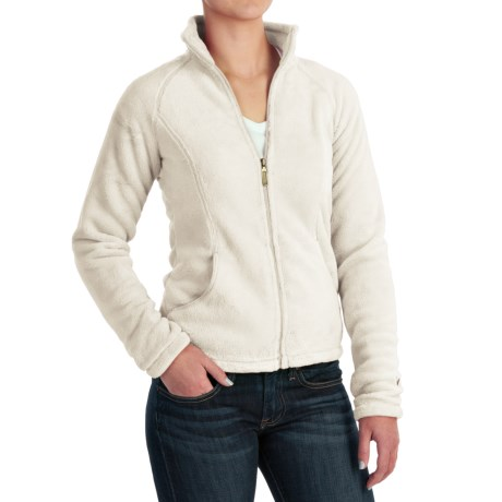 White Sierra Cozy Fleece Jacket - 200 wt. (For Women) in Cloud