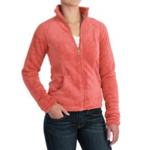 White Sierra Cozy Fleece Jacket - 200 wt. (For Women) in Dark Coral - Closeouts