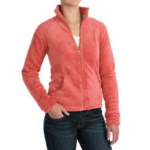 White Sierra Cozy Fleece Jacket - 200 wt. (For Women) in Dark Coral - Closeouts