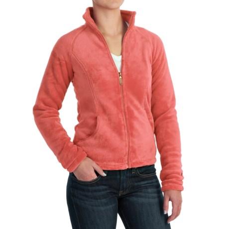 White Sierra Cozy Fleece Jacket - 200 wt. (For Women) in Dark Coral
