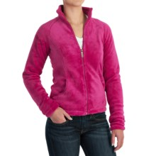 White Sierra Cozy Fleece Jacket - 200 wt. (For Women) in Fuchia - Closeouts