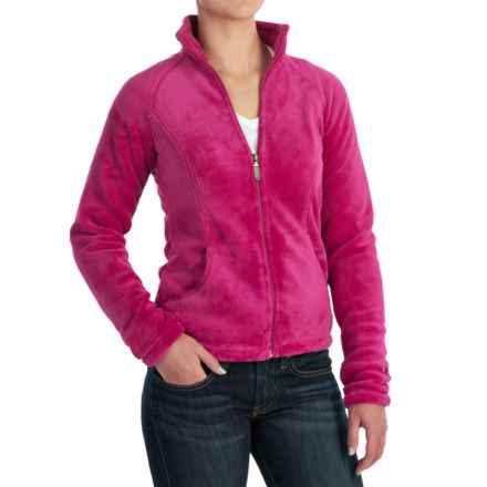 White Sierra Cozy Fleece Jacket - 200 wt. (For Women) in Fuchia - Closeouts