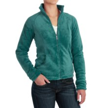 White Sierra Cozy Fleece Jacket - 200 wt. (For Women) in Harbor Green - Closeouts