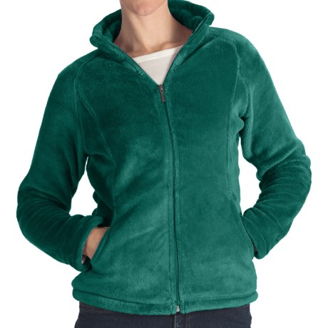 White Sierra Cozy Fleece Jacket - 200 wt. (For Women) in Night Teal