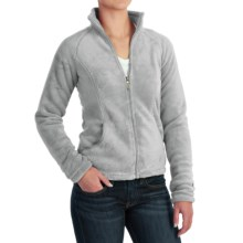 White Sierra Cozy Fleece Jacket - 200 wt. (For Women) in Quarry - Closeouts