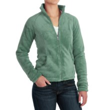 White Sierra Cozy Fleece Jacket - 200 wt. (For Women) in Shasta Green - Closeouts