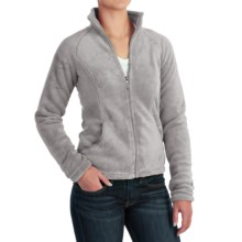 White Sierra Cozy Fleece Jacket - 200 wt. (For Women) in Sleet Grey - Closeouts
