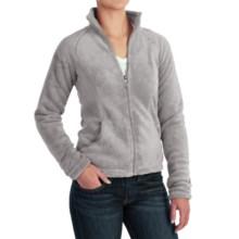 White Sierra Cozy Fleece Jacket - 200 wt. (For Women) in Sleet Grey - Closeouts