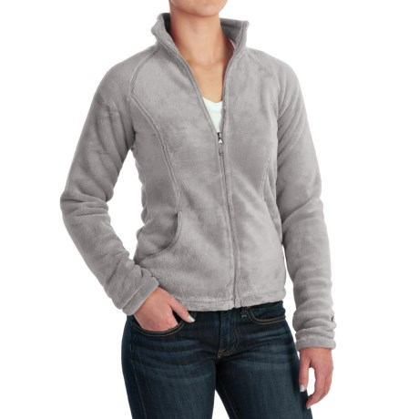 White Sierra Cozy Fleece Jacket - 200 wt. (For Women) in Sleet Grey