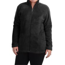 White Sierra Cozy Fleece Jacket (For Plus Size Women) in Black - Closeouts